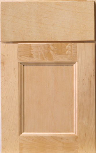 Frameless Hudson Maple Nautral Cabinet Door