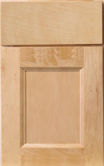 Frameless Hudson Maple Nautral Cabinet Door