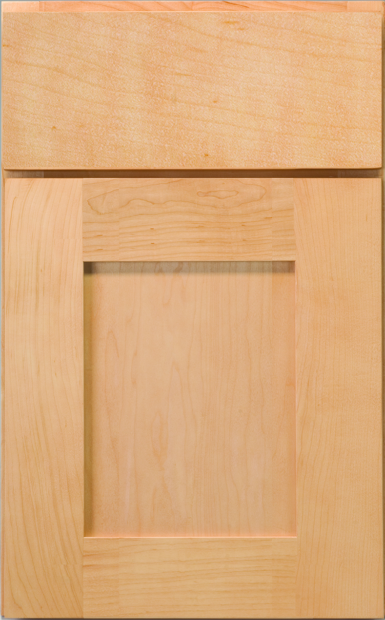 Frameless Seneca Maple Natural Cabinet Door