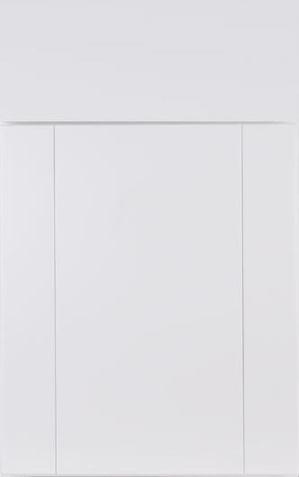 Bright white cabinet
