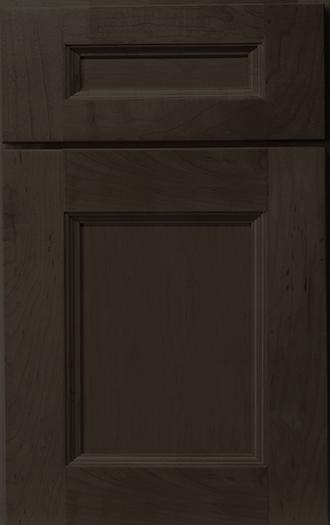 Hudson Maple Espresso Frameless Cabinet