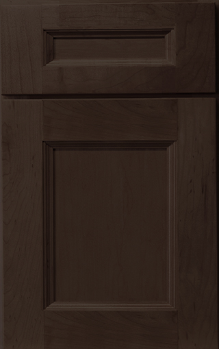 Hudson Maple Mocha Frameless Cabinet